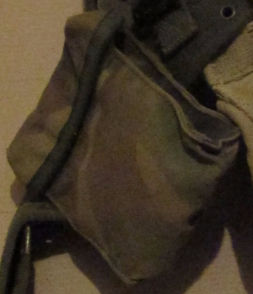 small pouch containing spare battery's and a small first aid kit