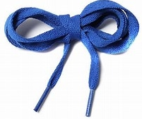 shoe lace showing the Aglet on the end to stop any fraying;